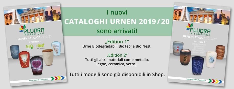 I nuovi cataloghi PLUDR URNEN 2019/20 sono arrivati!