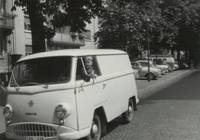 Pludra's first company vehicle, 1963