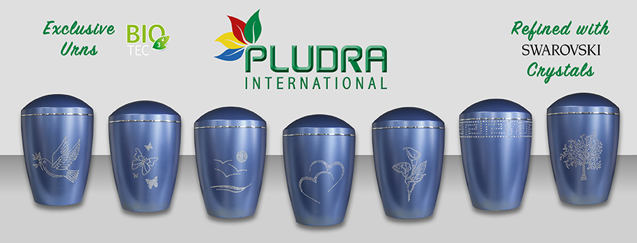 Pludra Exclusive Urns with SWAROWSKI Crystals