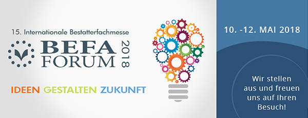 15. Internationalen Bestattermesse BEFA mit Pludra International